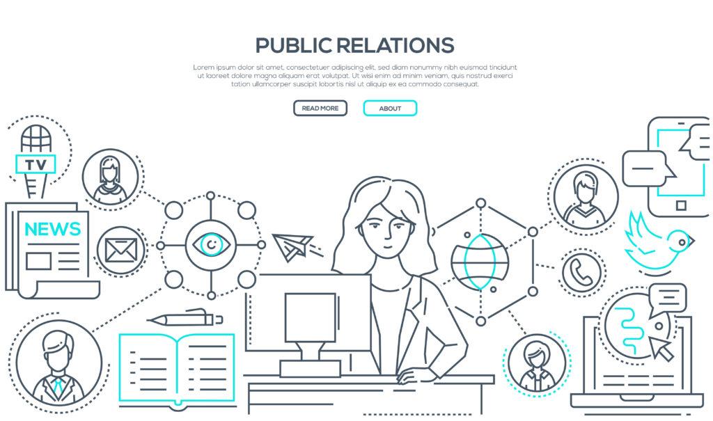 PRの露出戦略を考案する女性
