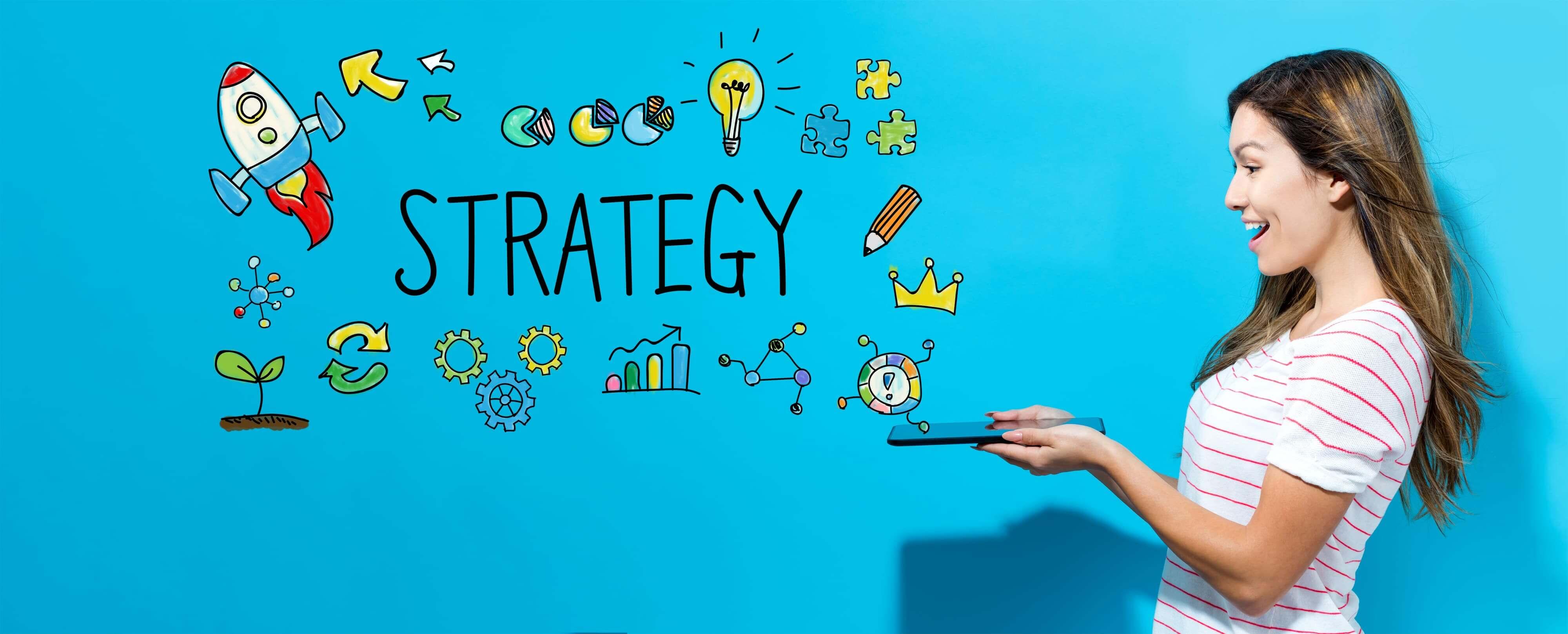 戦略を考えるシーン