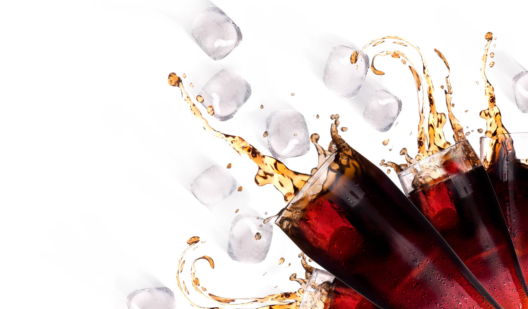 グラスに入ったコカコーラ