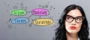 戦略を解決する女性